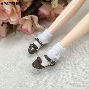 2 пар/лот чистый цвет кружева кукольный носок для куклы Барби эластичные белые черные короткие носки для Blythe 1:6 аксессуары для куклы