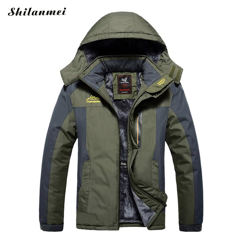 Plus Size Winter Parka Men Black Coat Zipper Hooded Blue Outwear with Inner Pocket and Hat Men's Jacket Casual Overcoat 7XL 8XL winter jacket men 2016 brand parka plus size men s hooded parka zipper quilted coat casual jackets
