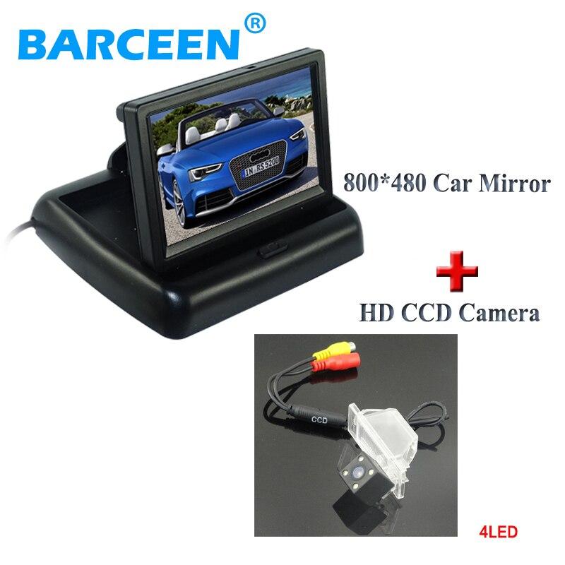 Caméra de stationnement de voiture et moniteur d'écran 4.3
