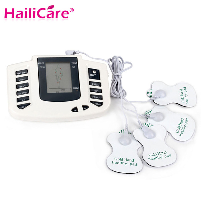 Electrical Stimulator Full Body Relax Muscle Antistres Massager Back Neck Foot Pulse TENS Acupuncture Therapy 4 Electrode Pathes