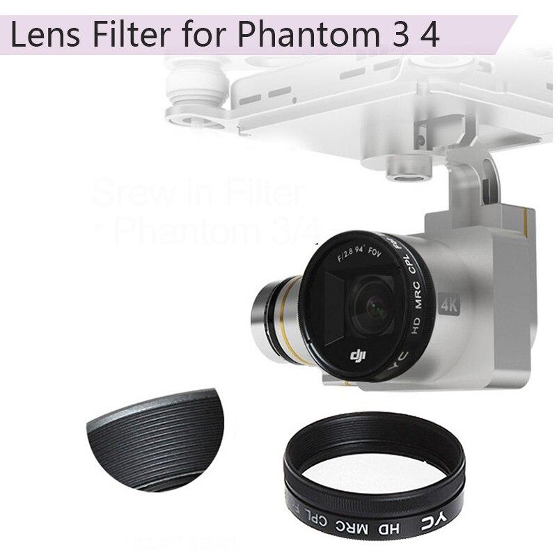 Lens Filters UV CPL ND2-400 ND8 ND16 Lens Filter For DJI Phantom 3 Adv Pro Phantom 4 Drone Camera Neutral Density Filter