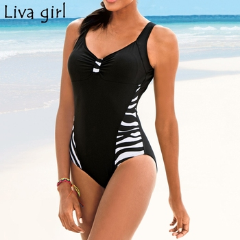 Liva girl plus size One-Piece Suits 2019 Push-Up Padded Brazilian Swimsuit hot Set Beach Monokini Bathing Swimwear Bikini 5XL 1