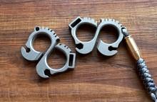 Titanium Alloy EDC Men And Women Self-defense Keychain Multi Tools