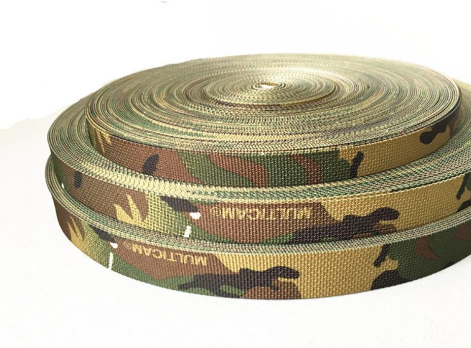 Width 3.8cm 5cm Camouflage Printed Pattern Ribbon Webbing, Outdoor Backpack Strap,Safety Belt,seat Belt,tape,Safety Harness,10m