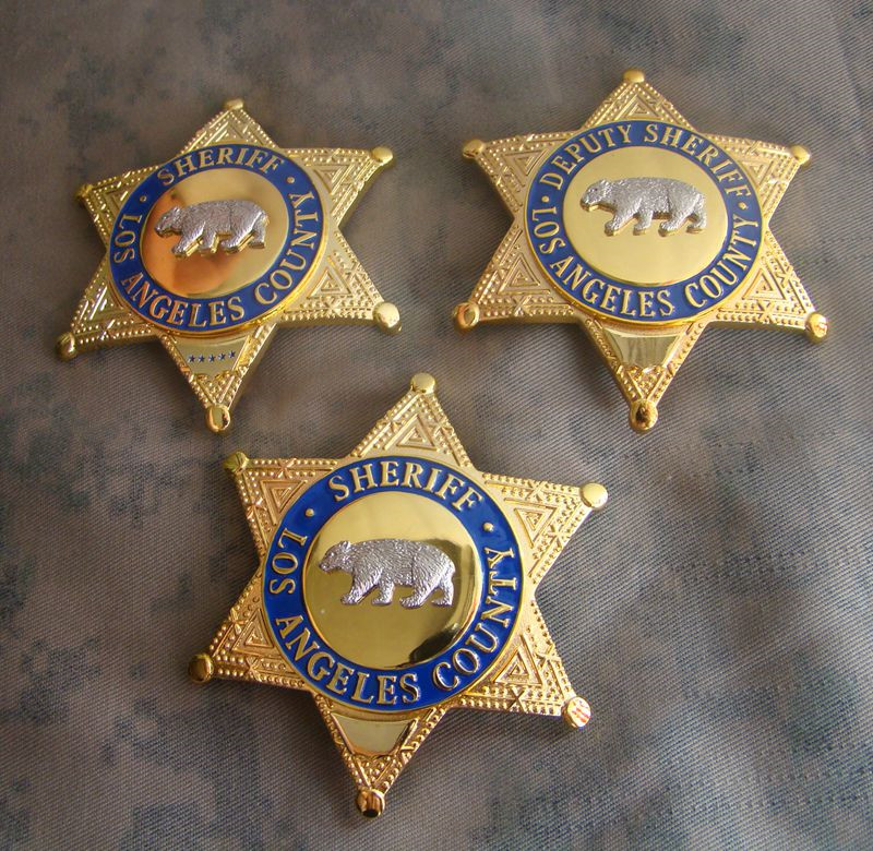 United States LA Los Angeles COUNTY SHERIFF/DEPUTY SHERIFF Shirt Lapel Bear Badge Brooch Pin Insignia Badge 1:1 Gift Cosplay
