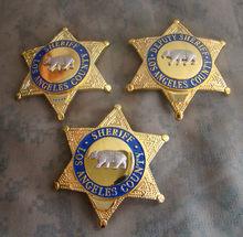 Estados unidos la los angeles county xerife/vice xerife camisa lapela urso crachá broche pino insígnia distintivo 1:1 presente cosplay