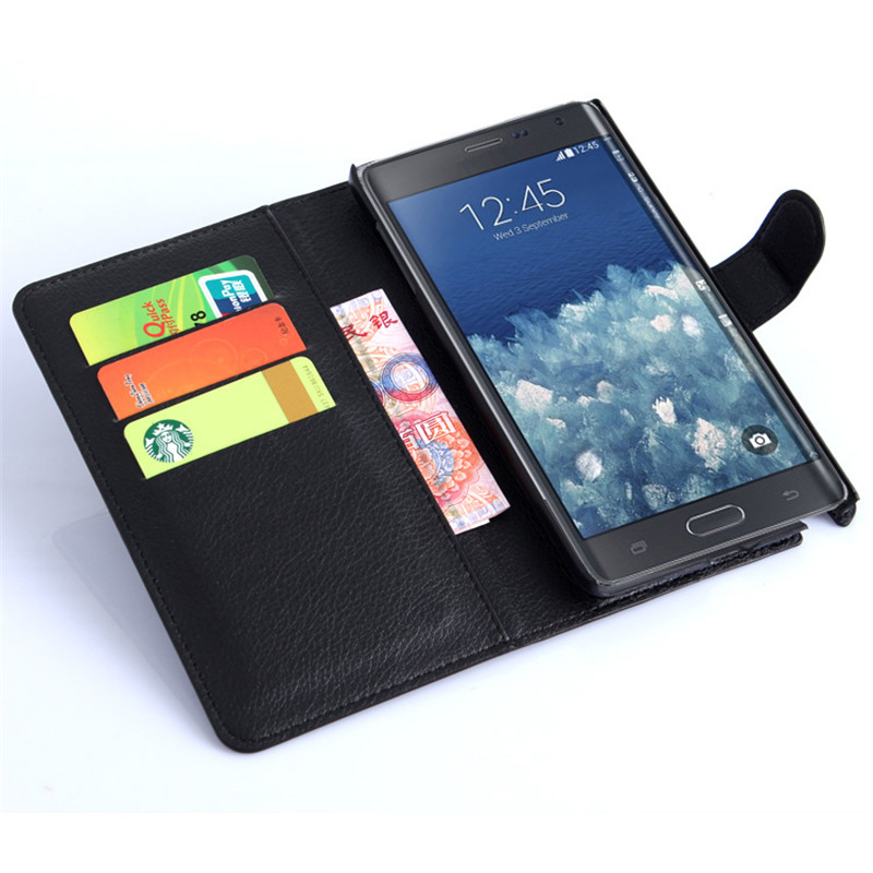 Flip Leather <font><b>Case</b></font> For Samsung Galaxy Note Edge <font><b>N915</b></font> N9150 N915D N915K N915L Note 3 Neo 4 5 Phone Cover Wallet <font><b>case</b></font> image