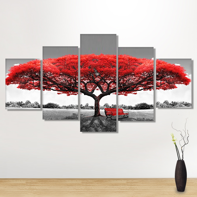 Full Drill 5D DIY Diamond Painting Big tree Art Multi-picture Embroidery Cross Stitch Rhinestones Mosaic Painting Red leavesFull Drill 5D DIY Diamond Painting Big tree Art Multi-picture Embroidery Cross Stitch Rhinestones Mosaic Painting Red leaves