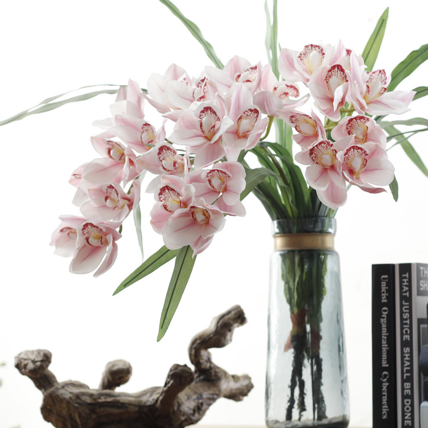 Orchid Flower Arrangements For Weddings: New 9 Heads Real Touch Silk Orchids Home Wedding