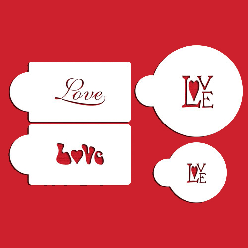 4pcs/lot Love Cookie Stencils Fondant Molds Cookie Mold Cake Stencils - Kitchen, Dining and Bar - Photo 2