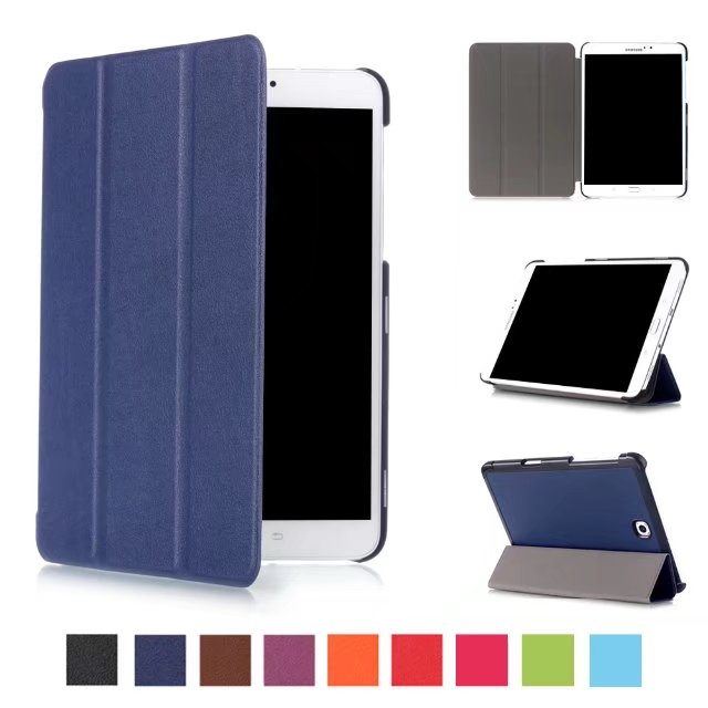 Ultra Slim Flip Cover Tablet Custer Folio Stand Leather Case For Samsung Galaxy Tab S2 8.0 SM-T710 T715 Protective Shell