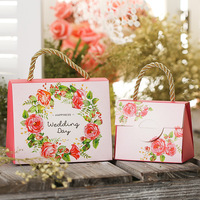 Free Shipping High Quality Butterfly Flower Candy Boxes Wedding Favors Portable Gift Box Party Favor Decoration