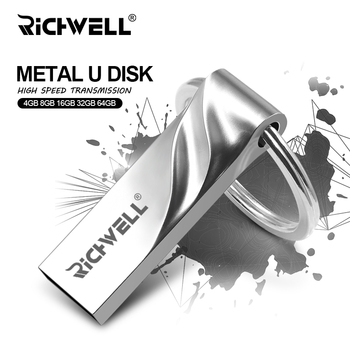 Hot Version Metal USB Flash Drive Waterproof Pen Drive 32GB U Stick 16GB 8GB 4GB Pendrive USB 2.0 Flash Drive with Key Ring