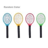 Multifuncional duplo círculo design handheld raquete de tênis elétrica alimentado por bateria elétrica mosquiteiro