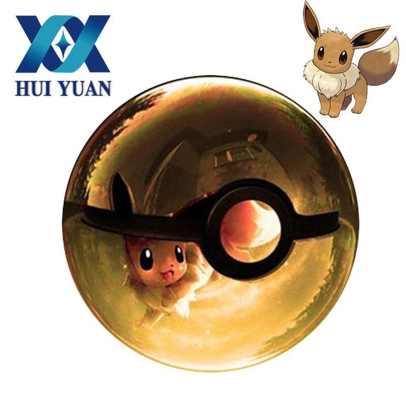 Хуэй юань 3D Eevee хрустальный шар 8 см поворотный USB и AA батарея светодио дный LED ночник настольная лампа