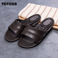 Summer Men's Flat Indoor Massage Slippers Soft Sole Cool Water Flip Flops Men Home Non-slip Bathroom Shoes Casual Beach Slides 2019 slippers men shoes slides men summer flat bathroom slippers comfortable rubber soft stripes casual beach slippers sorrynam