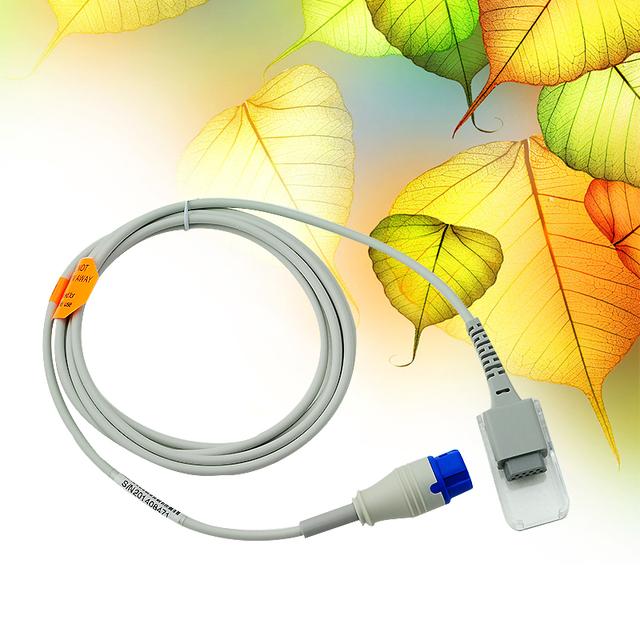 Venda quente Cuidados de Saúde 12pin Sensor de SpO2 Cabo de Extensão, Cabo adaptador, apto para Philips
