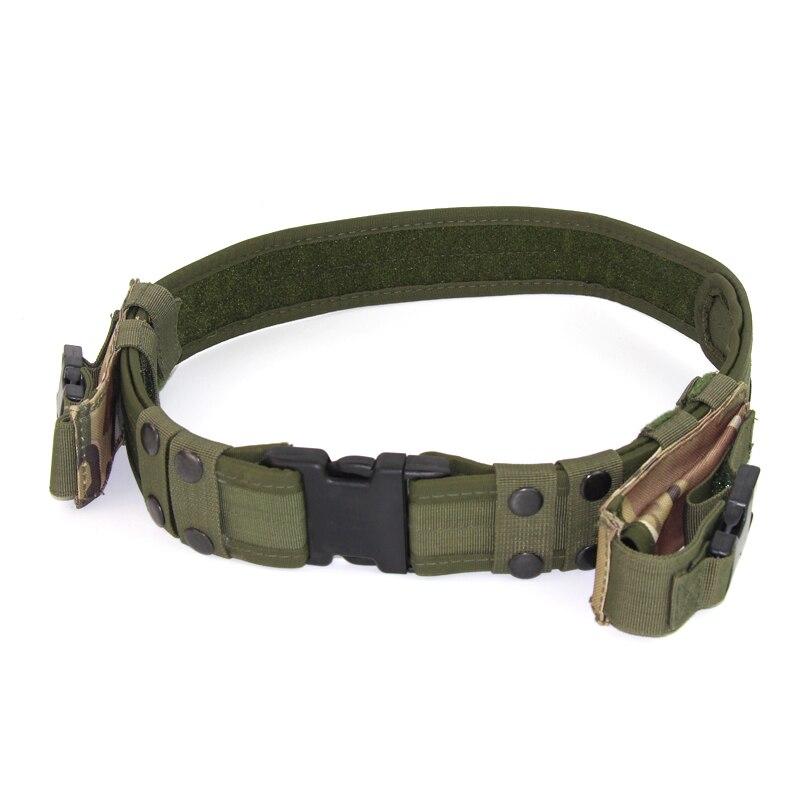 "50/"" Adjustable Camo TACTICAL BELT Gun Holster Magazine Pouch Combat Duty Police"
