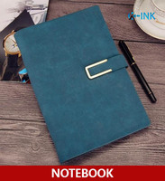 A5 Fashionable Business Notebook Leather Cover Spiral Inner Page Magnetic Buckle 7 Colors For Choice