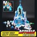 Lepin 25002 731 unids Mágico de La Nieve Serie Mundial El Elsa Castillo de hielo Conjunto de Bloques de Construcción Ladrillos Juguetes Chica con regalos 41148