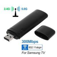 טלוויזיה אנטנה Ralink RT3572 2.4GHz / 5.0GHz USB 300Mbps WiFi מתאם אלחוטי WiFi מתאם עם אנטנה פנימית סמסונג טלוויזיה Windows 7/8/10 (1)