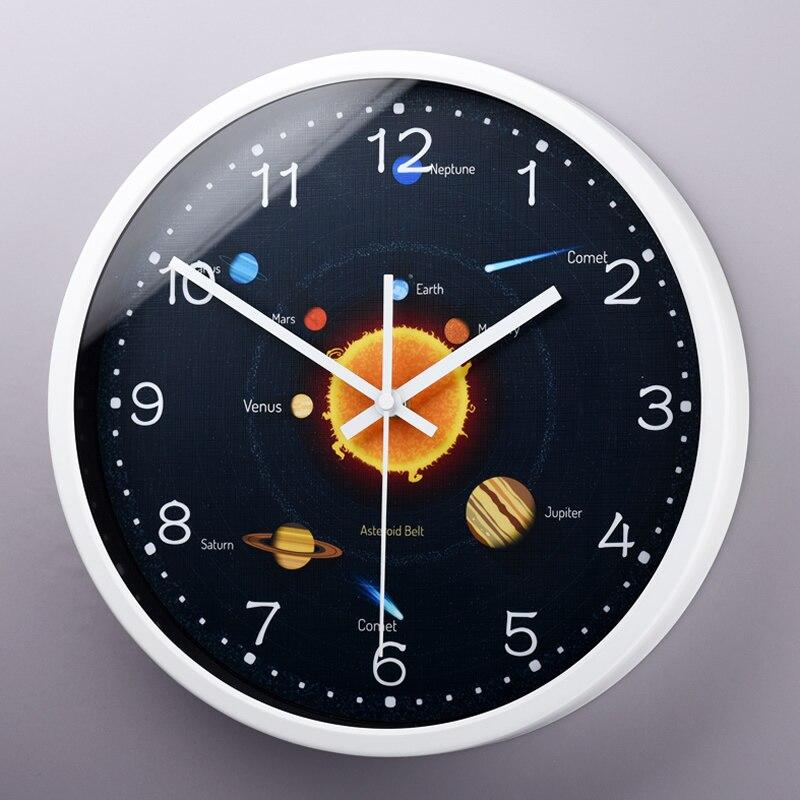 Mystérieuse horloge murale décorative cosmique interstellaire le vaste système solaire planète salon horloge murale