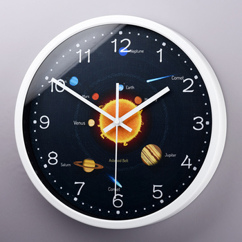 Mysterious interstellar cosmic decorative wall clock The vast solar system planet living room wall clock