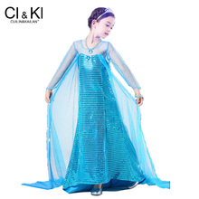 771aece726 CuilinKailan sukienka anna elsa sukienka disfraz księżniczka sofia infantil  gorączka elza kostium vestido roszpunka jurk disfrac.