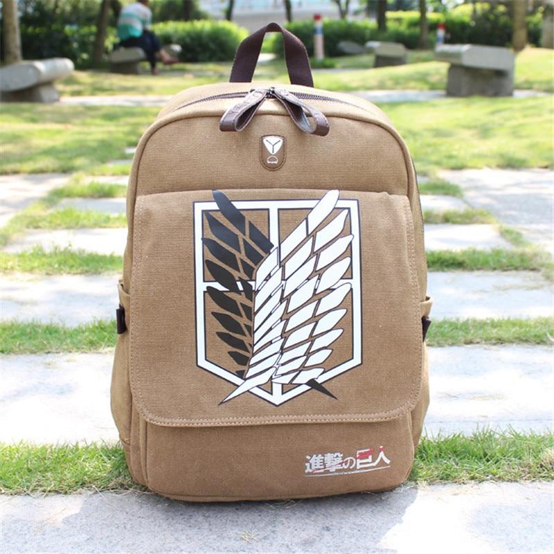 Attack on Titan Shingeki no Kyojin Cosplay Scouting Legion Backpack School Bag