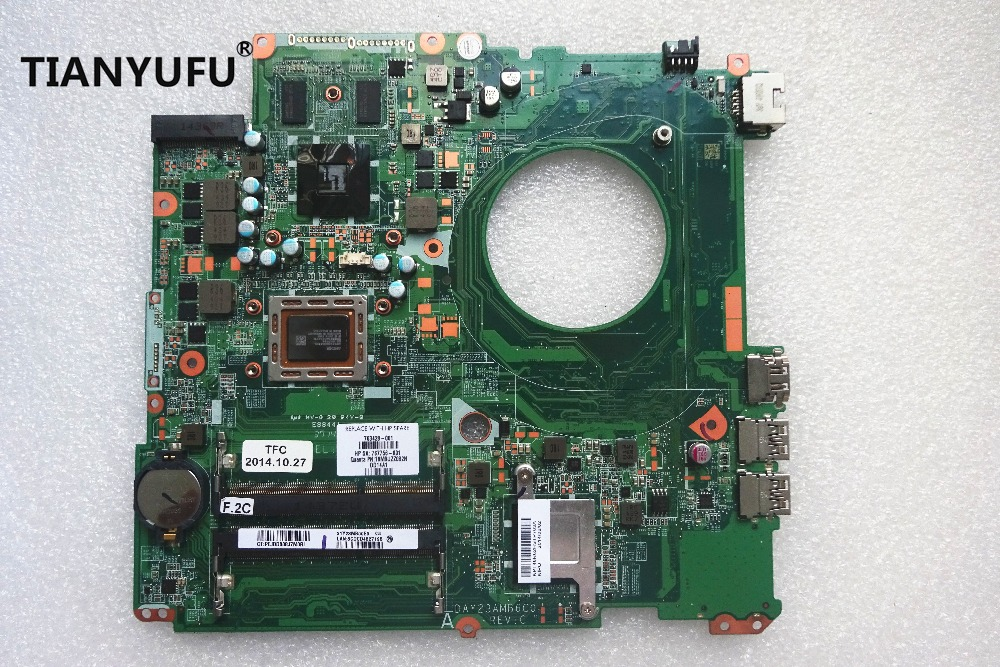 Laptop Motherboard For HP Pavilion 17 17 F MAIN BOARD DAY23AMB6F0 763428 501 763428 001 A10