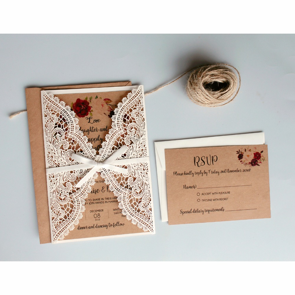 Where To Buy Wedding Invitation Paper: Aliexpress.com : Buy Vintage Wedding Invitations Suit