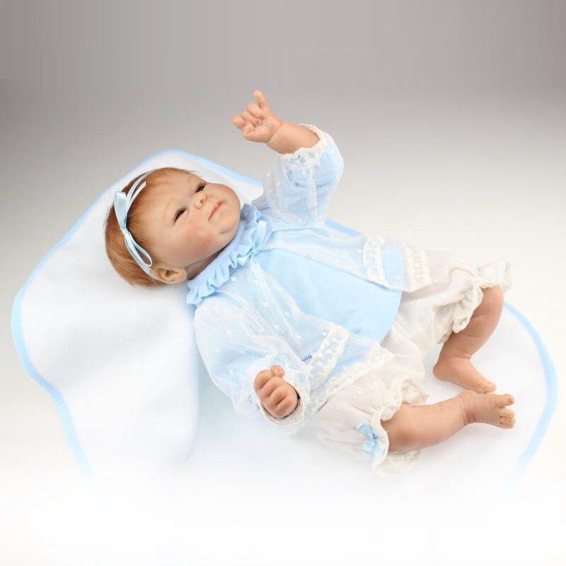 Здесь можно купить  UCanaan 40-45cm Handmade Silicone Reborn Baby Doll with Clothes Cute Dolls Reborn baby Best Gift for Child Toddler Toys UCanaan 40-45cm Handmade Silicone Reborn Baby Doll with Clothes Cute Dolls Reborn baby Best Gift for Child Toddler Toys Игрушки и Хобби