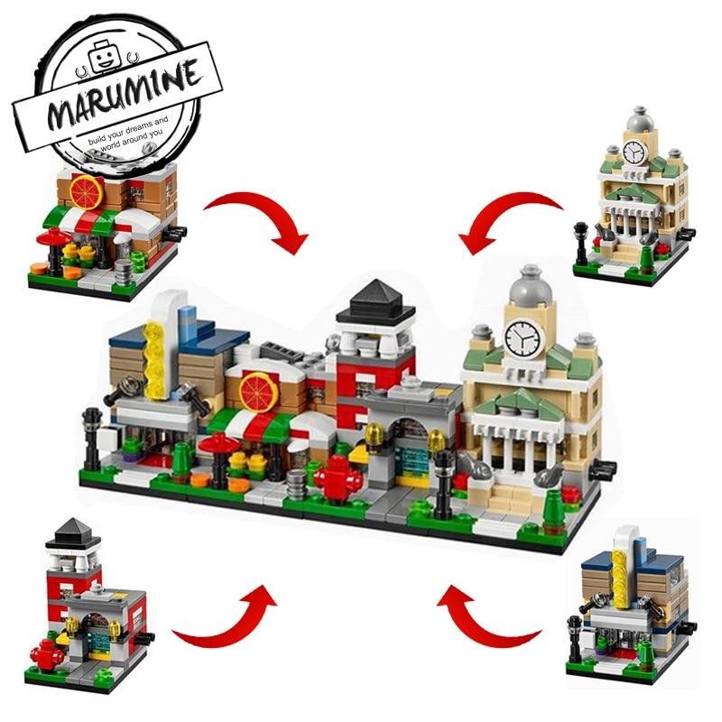 MARUMINE 1101-1104 Decool Technic 4 In 1 Building Blocks Construction Sets 139PCS-186PCS DIY Learning Bricks Toys For Kids набор кистей 1 1104