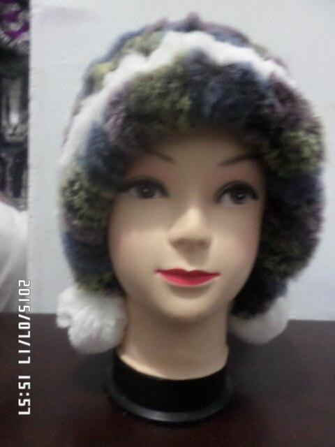 2017 Senior rabbit fur  Weave ball hat real fur fashion women rabbit fur hat freeshipping winter warm