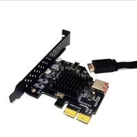 H1111Z Add On Cards PCI Express 3.0 USB 3.1 PCI E Card PCIE USB Adapter Raiser TYPE E USB3.1 Gen2 10Gbps + USB2.0 Expansion Card