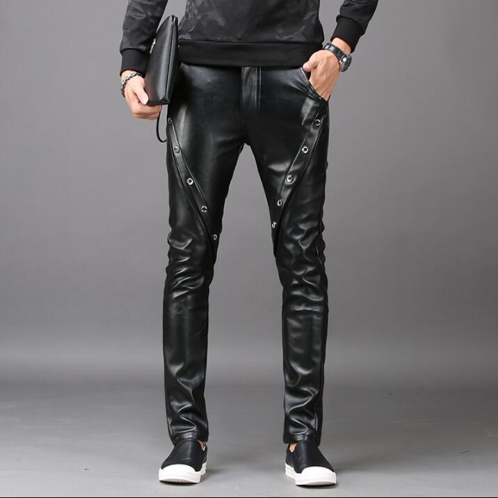 Plus Sarouel Hommes Pour Faux Cuir Mode En Pantalons Velours De Pantalon Pu Moto Homme Épaississement Personnalité OPXiTkwZlu