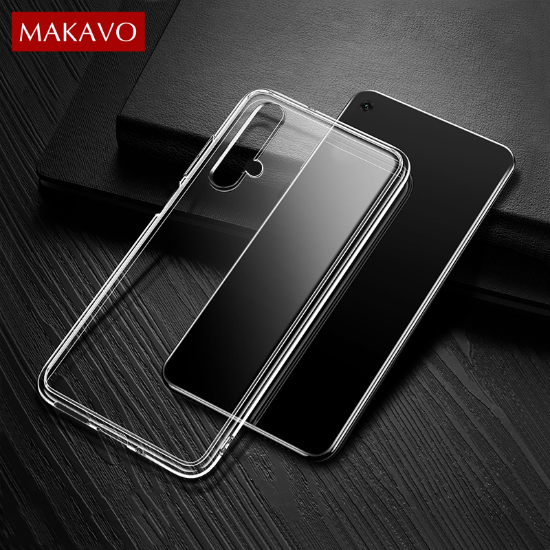 For Huawei Honor 20 Pro Case Slim Transparent Silicone Soft Clear TPU Back Cover Case for Huawei Honor 20 20S View 20 Lite image