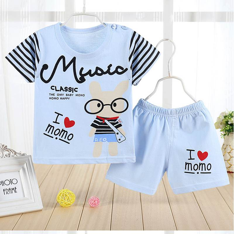 2016 New Toddler Boys Clothing Children Summer Boy Clothes Cartoon Kids Set T-shit+Pants 100%Cotton Casual Short Sets Tracksuit