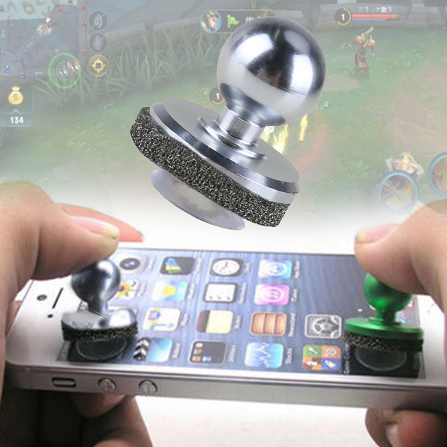 2018 hot sliver Mini Game Joystick Joypad Touch Screen joy stick For iPhone iPad Android phone tablet PC