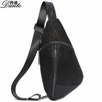 Dante Genuine Leather Bag Men Chest Pack Single Shoulder Strap Back Bags Leather Travel Men Crossbody