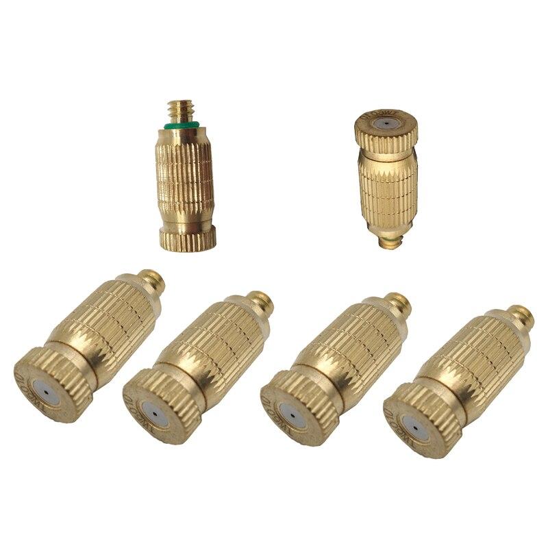 F101 50PCS Copper Spray Nozzle Humidifier Nozzle 3 16 Connector Garden Irrigation Fountain Misting Nozzle