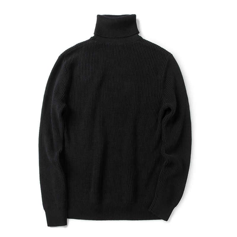 7944b9739110 ... Markless зима теплая Свитеры с высоким воротом Для мужчин sueter hombre  черный Мода Повседневная Верхняя одежда ...