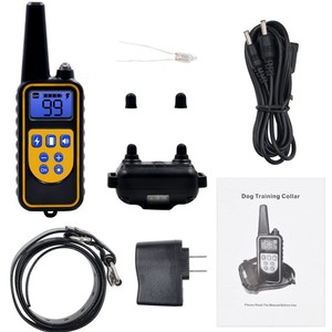 Image 5 - 800yd Electric remote Dog Training Collar Waterproof Rechargeable LCD Display for All Size beep Shock Vibration mode 40%off