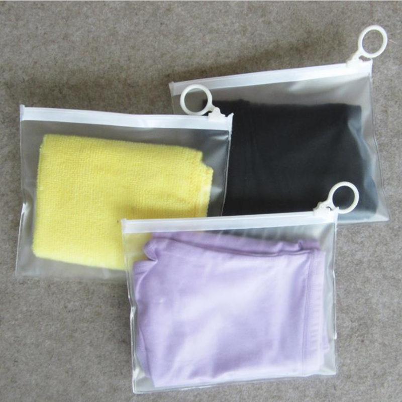 Transparent frosted PVC Storage Card Bag for Traveler Zipper Bag Cosmetic bags