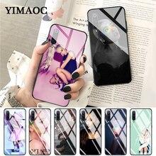 YIMAOC Left To Cry ariana grande Glass Case for Xiaomi Redmi 4X 6A note 5 6 7 Pro Mi 8 9 Lite A1 A2 F1