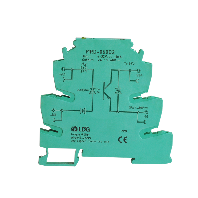 MRD-060D2 Din Rail Ultra-thin Solid State Relay 2A Input 5V12V24V32VDC Controlled LED Indication Module Switch Board SSRMRD-060D2 Din Rail Ultra-thin Solid State Relay 2A Input 5V12V24V32VDC Controlled LED Indication Module Switch Board SSR
