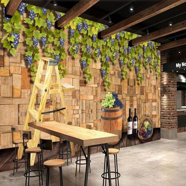 Custom Photo Wallpaper Nostalgic Large Vineyard Background Wall Mural Entertainment Restaurant Bar Decoration