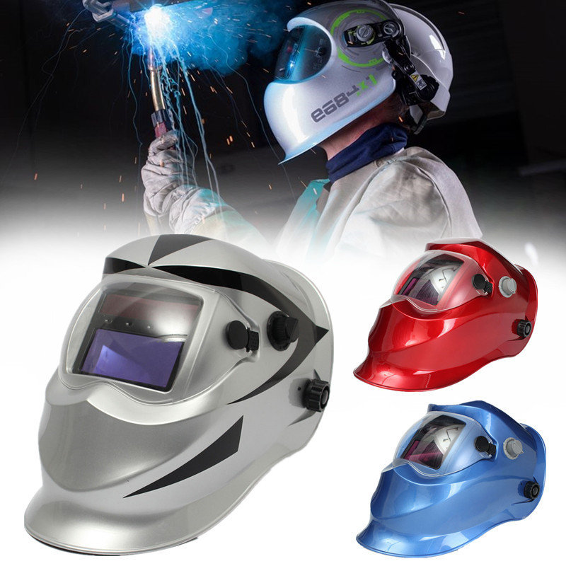 New Solar Welder Mask Auto-Darkening Welding Helmet Racing Track Silvery Red Blue вешалка на дверь rosenberg 10 крючков