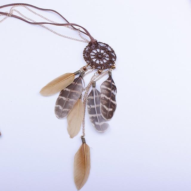 brixini.com - Bohemian Vintage Dream Catcher Necklaces