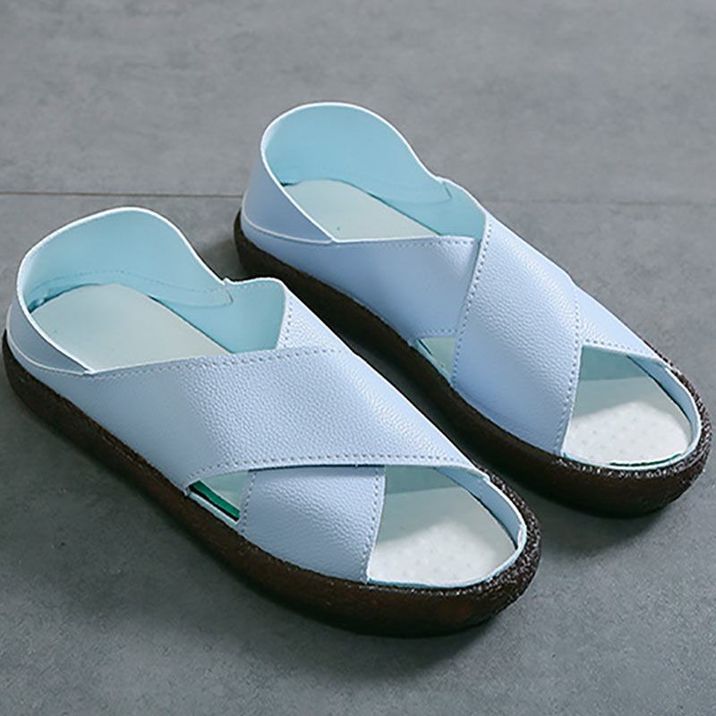 Summer Women's Flats Slip On Sandals Shoes Zapatillas Mujer Handmade PU Leather Woman Ballerina Shoes 2019 ballerine femme